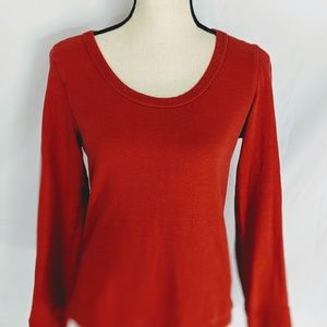 James perse thermal shirt in Coral, size 2